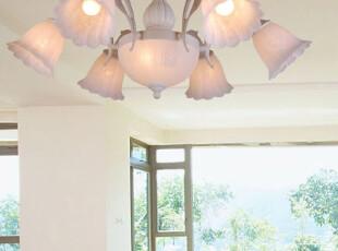 【龟兔】欧式灯 灯饰灯具树脂吸顶灯 简约客厅灯 卧室灯 5902-6+2,灯具,