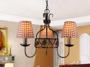迪莱克斯灯饰 客厅 餐厅 卧室吊灯 美式乡村 田园铁艺 18023-3H,灯具,