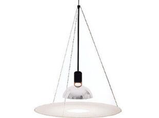 意大利原装进口Flos Frisbi 简约欧式客厅书房卧室展厅反散射吊灯,灯具,