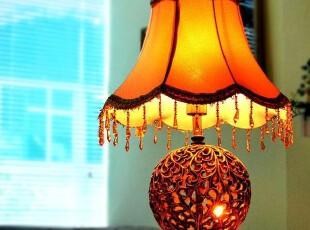 7折 欧式宫廷风 现代田园创意台灯 卧室床头镂空工艺台灯,灯具,