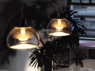 台湾进口Seeddesign 沙丘透明玻璃 厨房 卧室 餐厅反射吊灯 现货,灯具,