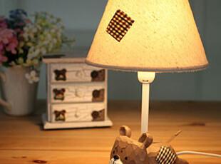 懒角落★创意家居 zakka北欧田园可爱动物 卧室床头装饰台灯35265,灯具,