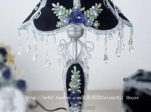 奢华欧式 蓝色台灯 创意床头灯装饰灯具 结婚礼物新居礼品,灯具,
