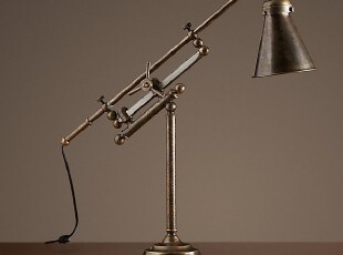 【纽约下城公园】 法式工业感精确轨道铜质工作灯/台灯,灯具,