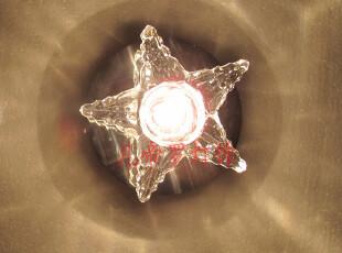 满四包邮 五角星 水晶 吸顶灯 过道灯 阳台灯饰走廊灯具 天花灯,灯具,