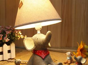 仰望天空创意复古田园台灯 儿童房卧室床头灯饰灯具 插电小台灯,灯具,