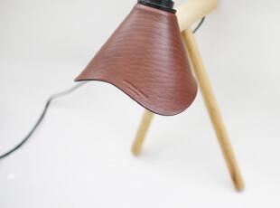 DOOK STUDIO 出品手造原木牛皮 简约 设计师 创意复古台灯,灯具,
