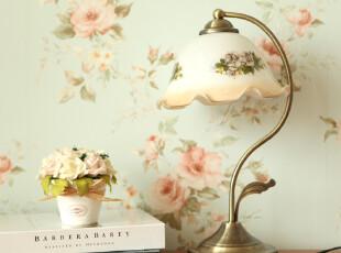 玐玖琦珥明星同款韩式田园复古台灯客厅卧室床头台灯,灯具,