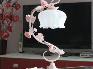 【光良】简约时尚台灯欧式田园铁艺床头灯饰卧室客厅创意TD023,灯具,