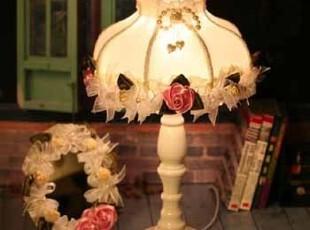 批发 9306*15爱丽丝公主系列 卧室书房 布艺蕾丝床头灯 婚庆必入,灯具,