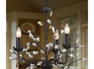 【纽约下城公园】 鸟巢里的宝石 美式三灯头吊灯,灯具,