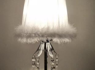 创意 卧室 简约 灯 床头 现代  灯饰 水晶 绸布 台灯,灯具,