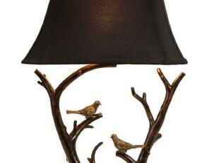 【纽约下城公园】独一无二 鸟在枝头装饰台灯(高75厘米),灯具,