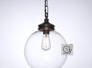 单头吊灯北欧宜家美式乡村欧美吊灯 吊灯餐厅玻璃吊灯 吊灯 特价,灯具,