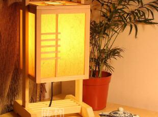 【千里马(原木)】中式台灯 羊皮木灯具 卧室床头灯客厅灯书房灯,灯具,