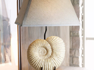 潮人居 地中海风格台灯 海洋生物海螺台灯,灯具,