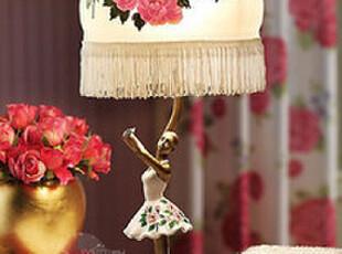 现代简约宜家韩式时尚水晶台灯卧室芭蕾舞床头客厅灯具灯饰工作,灯具,