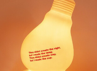 『韩国进口』mc1109 创意家居*可爱柔光灯泡造型陶瓷树脂装饰台灯,灯具,