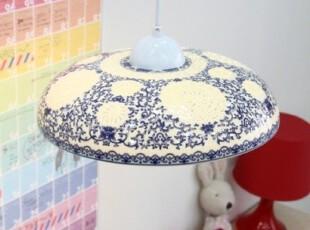 『韩国进口家居』n1371  *青花复古*唯美装饰吊灯,灯具,