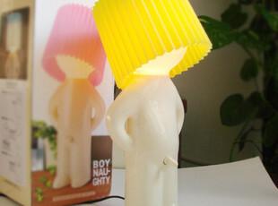 居家创意 小P孩 有点害羞创意小孩灯 个性 创意台灯/座灯 小号,灯具,