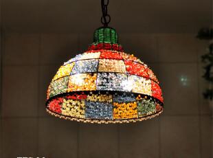尼泊尔彩色铁艺吊灯/欧式田园地中海/蒂凡尼/酒吧店面装饰,灯具,