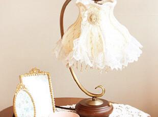 『韩国进口家居』n1337  蕾丝缎带优雅仿古台灯,灯具,