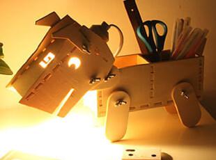 懒角落★创意家居 多功能DIY小狗 可调光桌面台灯 夜灯 33357包邮,灯具,