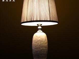 【柏尚灯饰】台灯卧室床头灯 欧式台灯创意 时尚艺术床头贝壳台灯,灯具,