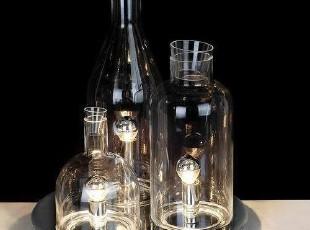 新品台灯现代时尚清光玻璃酒瓶台灯 客厅灯 灯饰灯具 特价,灯具,