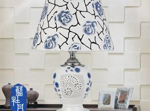 【品氏】一灯两用景德镇台灯 田园陶瓷高档客厅台灯卧室灯,灯具,