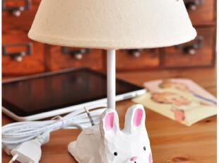 默默爱创意家居zakka 北欧田园 树脂动物装饰台灯 卧室床头灯MO,灯具,