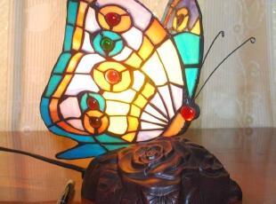 【点亮生活】彩色玻璃帝凡尼灯饰/蝴蝶台灯/小夜灯/经典台灯,灯具,