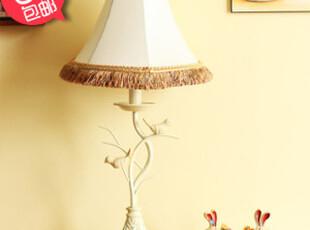 【6折包邮】玐玖琦珥手工流苏欧式树脂小鸟台灯欧式卧室床头台灯,灯具,
