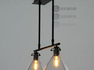 【设计师的灯】yc现代客厅餐厅卧室 双头 水晶漏斗 吊灯,灯具,