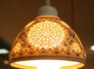 【韩国进口家居】*奢华陶瓷蕾丝镂空绝美吊灯n0359,灯具,