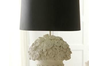 【纽约下城公园】瓮中花束作旧风格素雅台灯,灯具,