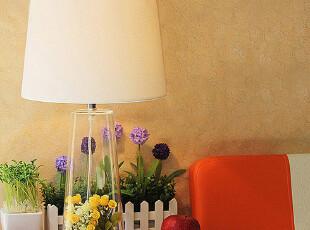 JP3557 美式简约玻璃台灯 DIY台灯 床头灯 书桌灯,灯具,