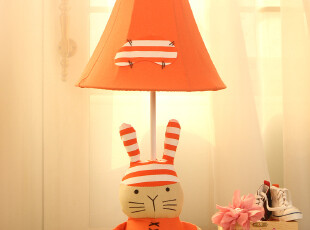 欣兰雅舍 简约田园创意儿童卡通台灯 卧室床头灯 兔子灯饰可爱,灯具,