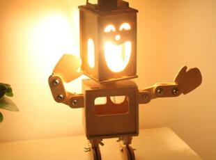 懒角落★创意家居 韩版 DIY 双面小子 可调光 床头台灯 夜灯35369,灯具,