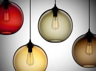 美式乡村复古艺术吊灯创意玻璃鱼缸卧室餐厅灯现代简约吧台灯具饰,灯具,