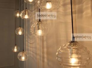 乐灯水纹水晶玻璃吊灯阳台过道餐厅客厅书房简约时尚灯饰,灯具,