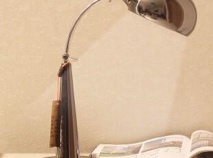 摇臂 台灯 办公学习工作台灯可调光 简约现代不锈钢美式台灯折叠,灯具,