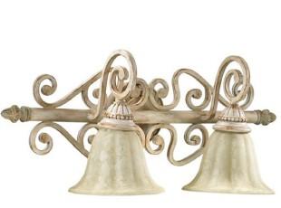 【纽约下城公园】圣查理浅色旋花镜前灯/壁灯,灯具,