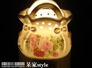 {小钱包}可爱陶瓷小夜灯 节能/香薰/驱蚊----床头的温暖.夜,灯具,