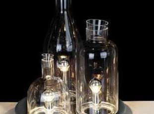 现代酒瓶台灯|玻璃台灯|特价台灯 Dish table lamp 清光玻璃灯,灯具,