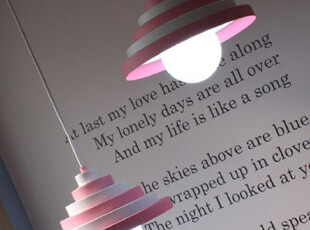 ★公主梦想★韩国家居*积木造型*粉嫩可爱两件组装饰吊灯W1408,灯具,