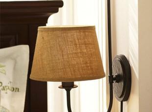 【凯灯】灯饰 美式乡村落地壁灯 简约布艺北欧宜家客厅 床头壁灯,灯具,