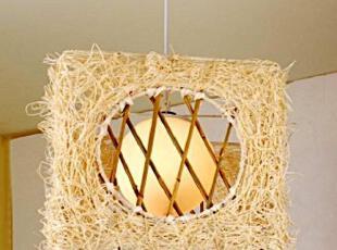日式 韩式 竹艺灯 藤艺吊灯 造型灯 个性灯 卧室吊灯 餐厅吊灯,灯具,