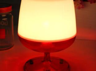 懒角落★创意家居 韩版 彩色 红酒杯卧室床头 小台灯/夜灯 35279,灯具,