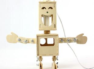 中国原创设计Geekcook  DIY拼装双面小子机器人台灯,灯具,